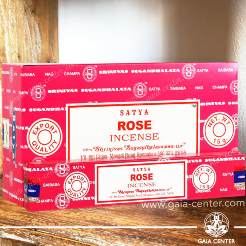 Incense Sticks pack 15g Rose by Satya at Gaia Center | Cyprus.