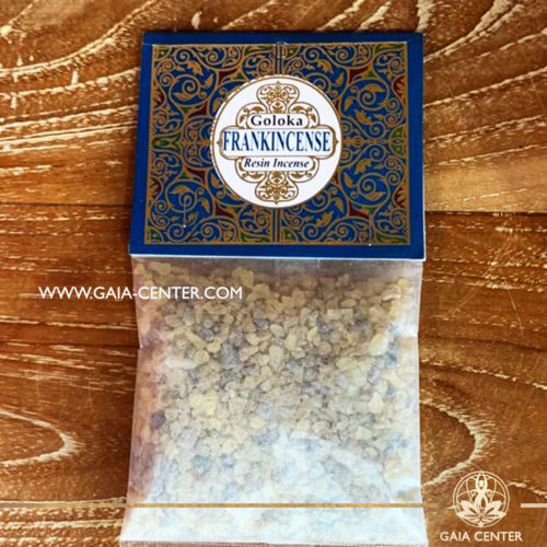 Incense Resin Copal by Goloka for smudging and space clearing ceremonies. 1 pack contains 30g. of resin. Aroma Incense Resins selection at Gaia Center in Cyprus.
