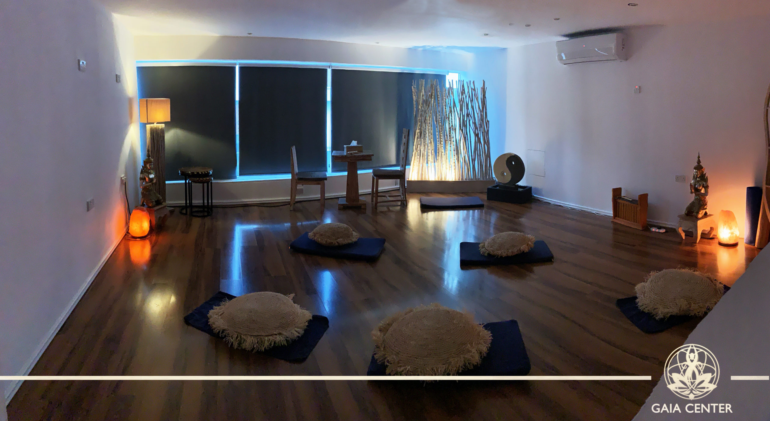 Meditation healing space for lectures & workshops. Individual therapies and consultations. Cacao Ceremony and Sound healing sacred healing space. Gaia Center in Cyprus.