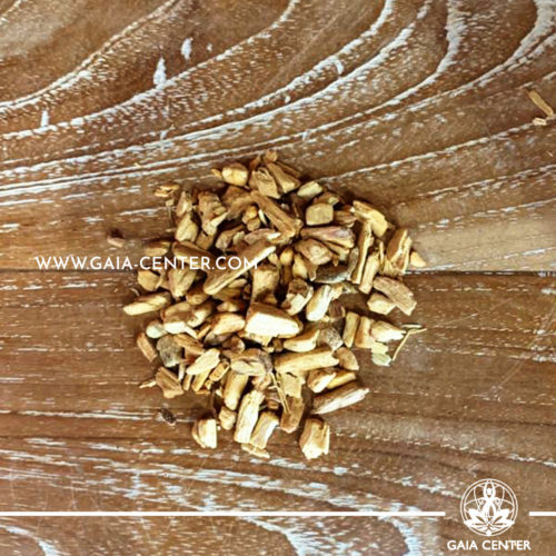 Palo Santo Holy wood thick chips pack of 25g for smudging ceremony and space clearing. Smudge sticks and Palo Santo selection at Gaia Center in Cyprus.