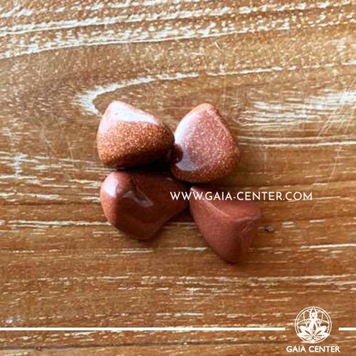 Goldstone 20-30mm Tumbled stones from South Africa. Crystals and Gemstone selection at GAIA CENTER | Cyprus.