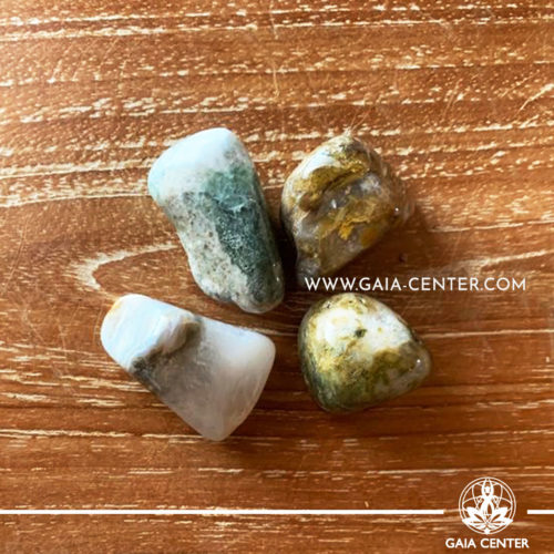 Ocean Jasper A quality 30-40mm Tumbled stones from Madagascar. Crystals and Gemstone selection at GAIA CENTER | Cyprus.