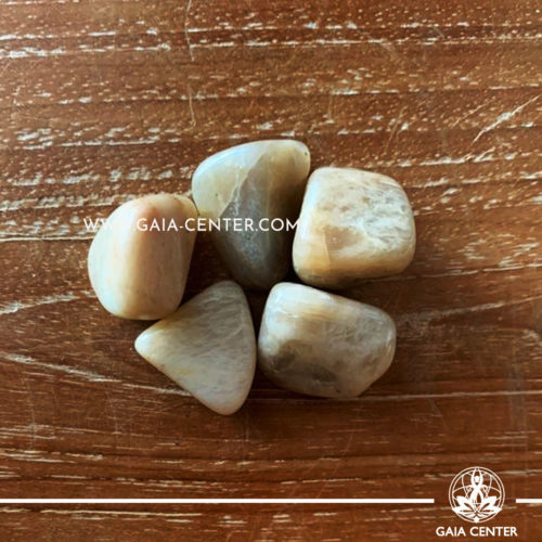Moonstone Tumbled Stones, size 20-30mm. Crystals and Gemstone selection at GAIA CENTER | Cyprus.