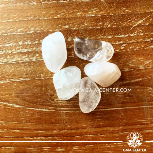 Rose Quartz from Brazil Tumbled Stones, size 10-20mm. Crystals and Gemstone selection at GAIA CENTER | Cyprus.