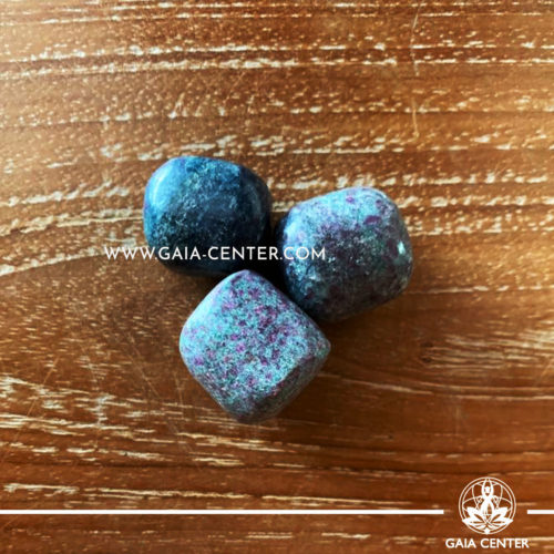 Ruby in Fuchsite from India Tumbled Stones, size 20-30mm. Crystals and Gemstone selection at GAIA CENTER | Cyprus.