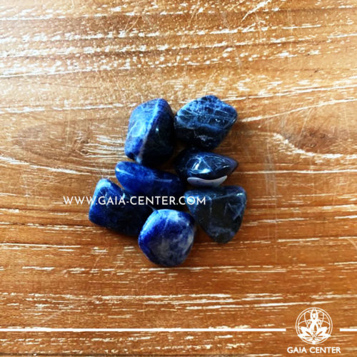 Sodalite Blue from Brazil Tumbled Stones, size 10-20mm. Crystals and Gemstone selection at GAIA CENTER | Cyprus.