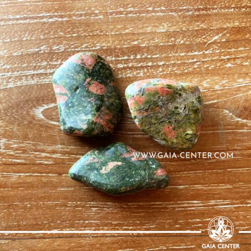 Unakite A quality 30-40mm Tumbled stones from Africa. Crystals and Gemstone selection at GAIA CENTER | Cyprus.